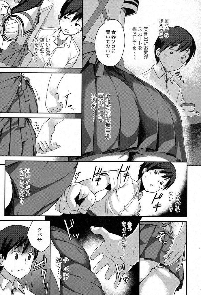 【エロ漫画】JKになったお姉ちゃんに色気が出てきて実の姉なのに発情してしまい勃起ペニスを見つかると近親相姦イチャラブSEX!