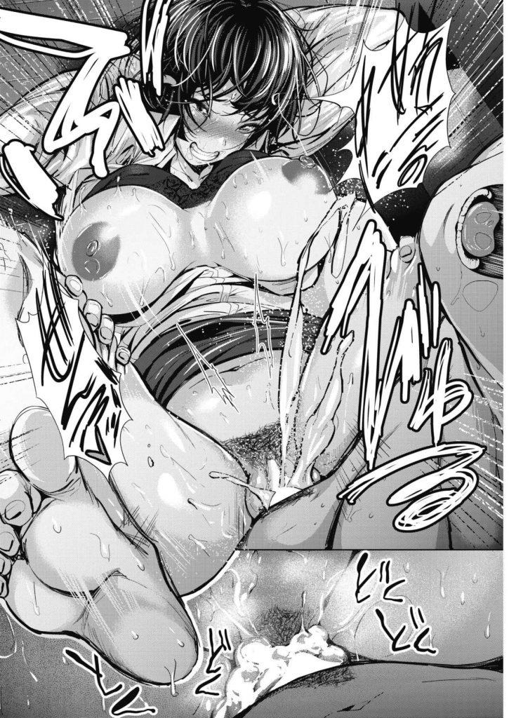 【エロ漫画】エロい格好で寝てた巨乳姉で視姦オナニーしてた弟が見つかり手コキで扱かれ激しいバキュフェラからの逆レイプ!